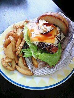 金目鯛のハンバーガー