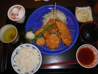 旬の野菜フライ定食