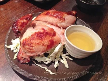 丸鶏の半身焼