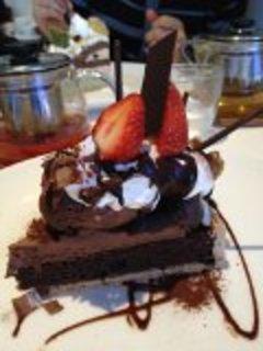 あまおうと生チョコレートのタルト