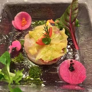 島蛸と鮮魚のカルパッチョ