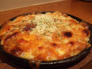 ミートソースとパルメザンチーズのドリア