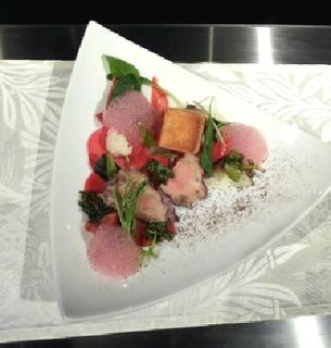 フォアグラの軽い薫製と京野菜2011冬