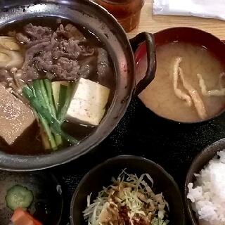 牛鍋(すき焼)定食