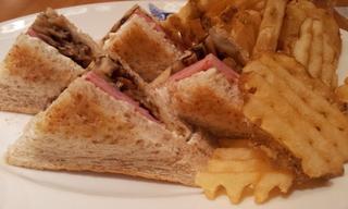 ハムとマッシュルーム サンド