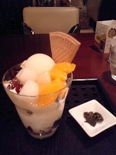 白桃ほうじ茶パフェ
