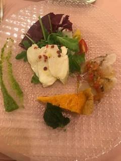 前菜3種の盛り合わせ(カルパッチョ・サラダ・キッシュ)