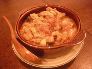 トリッパと豆の煮込み