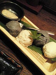 二色胡麻豆腐