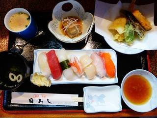 ランチの寿司定食