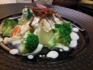 温野菜のヨーグルトソース仕立て