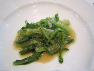 中国野菜の塩炒め