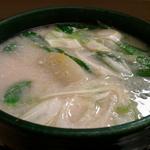 氷見の寒ブリの酒粕鍋