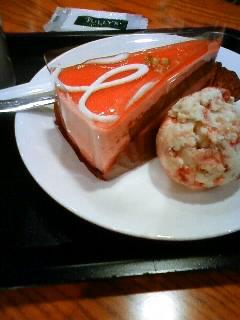 赤い実のムースケーキ