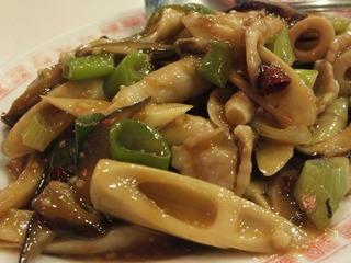 台湾竹の子と豚肉の炒め