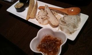 季節の焼野菜ペペロンチーノ風