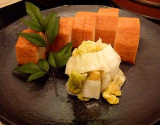 山芋の醤油漬けと白菜の漬物