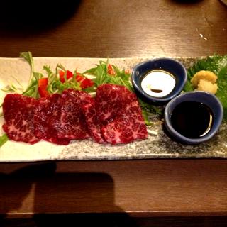 霜降り桜肉のお刺身