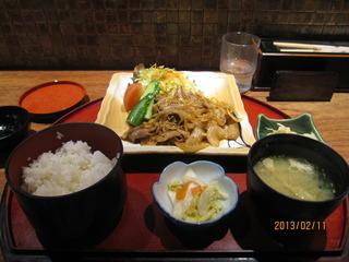 豚肉の生姜焼き膳