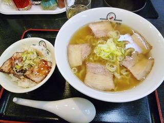 ラーメン焼豚丼セット