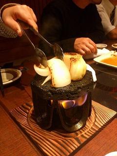玉葱の溶岩焼き