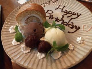 誕生日デザートプレート