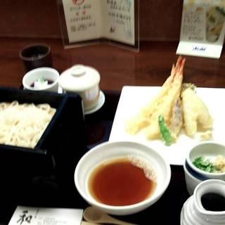 海老天ぷらそば御膳