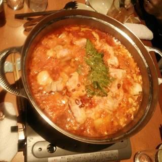 [2時間飲み放題付]北の黄金鶏トマト鍋コース<全7品>3,980円