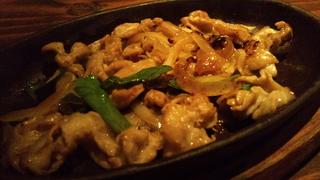 鶏ハラミ柚子胡椒鉄板焼き