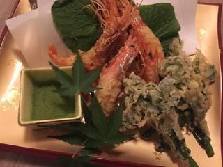 海老と旬菜の天麩羅