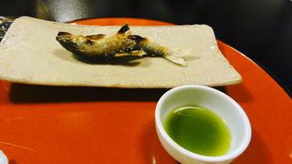 鮎塩焼 蓼酢