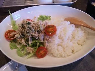 蒸し鶏と野菜のサラダプレート