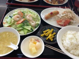 海老の野菜炒め ランチ