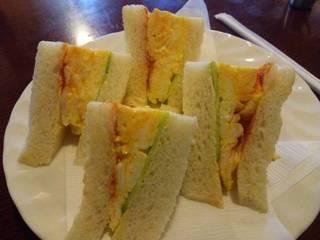 卵サンドハーフセット(モーニング)