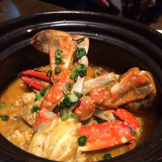渡り蟹と小ヤリイカの土鍋リゾット