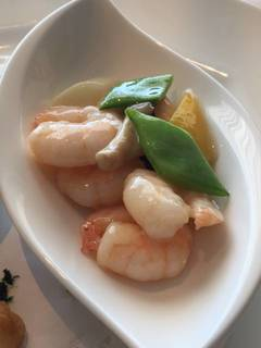 海老と季節野菜の炒め