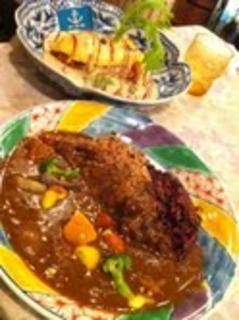 玄米と紫香米のカレー