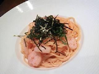 小海老と大葉の明太子スパゲティ