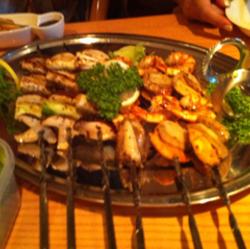 魚介とキノコのBBQ