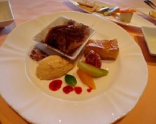シェフオススメコースのデザート