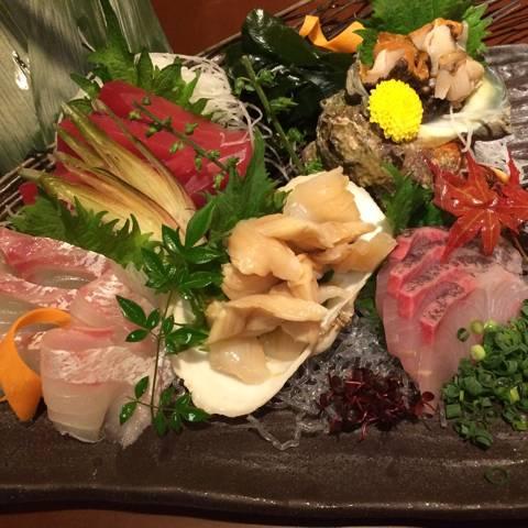 鮮魚、貝盛り合わせ