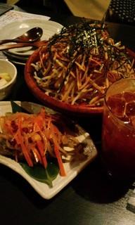 大根と水菜とポテトのサラダ