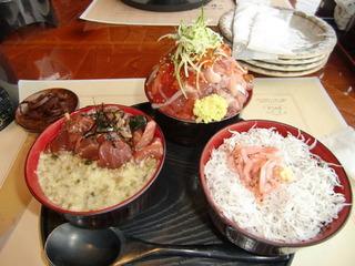 漁師の三色丼