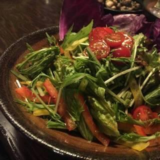 5種の旬野菜と黒オリーブの特製サラダ