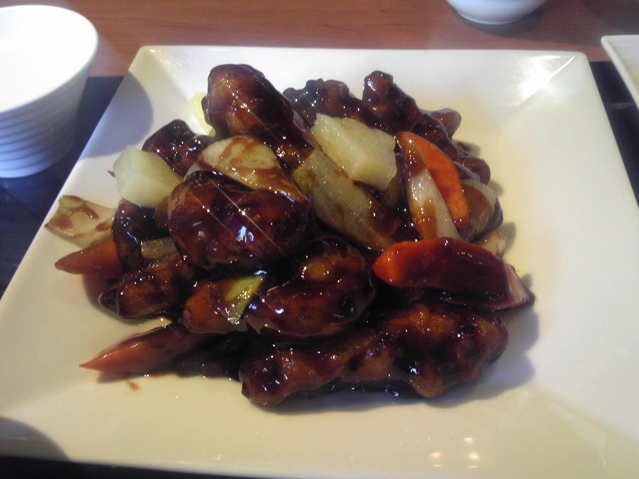 豚肉の黒酢スブタ
