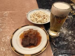 ビーフステーキと京都ポーク