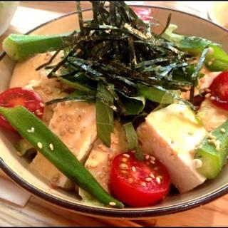 豆腐とアボカドの味噌丼