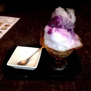 日光の天然氷 かき氷 紫芋