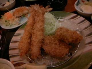 海老フライ&ヒレカツ定食