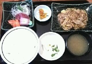 豚の生姜焼きランチ